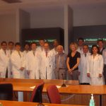Dr. Yasargil, Dr. Dempsey and other members of the department