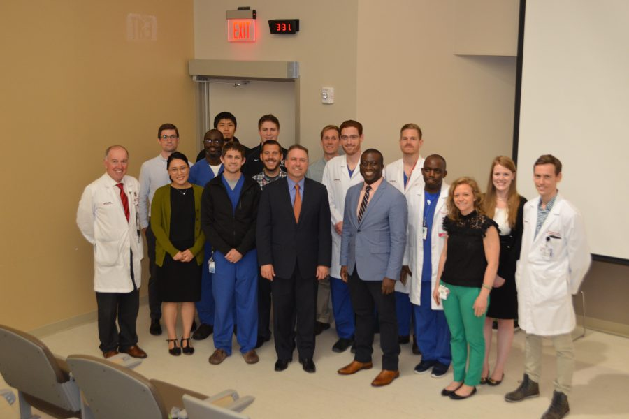 Dr. Steinmetz with residents and faculty