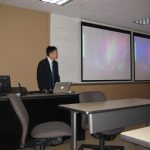 Dr. Park giving a lecture