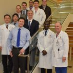 Dr. Lang with faculty and residents