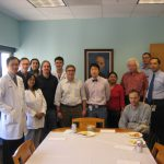 Dr. Rabkin and members of the department